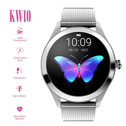 Amazon.com: ZDY Smart Watch KW10, Round Touch Screen IP68 ...