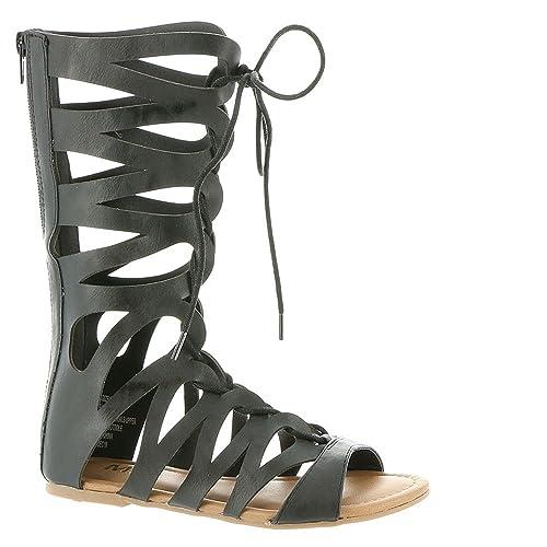 b39995f7729 Mia Kids Little Girl s Jane Black Gladiator Sandals Shoes Sz  2