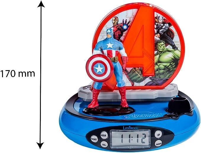 Marvel RP500AV Marvel Radio Despertador con Proyección de la Hora ...