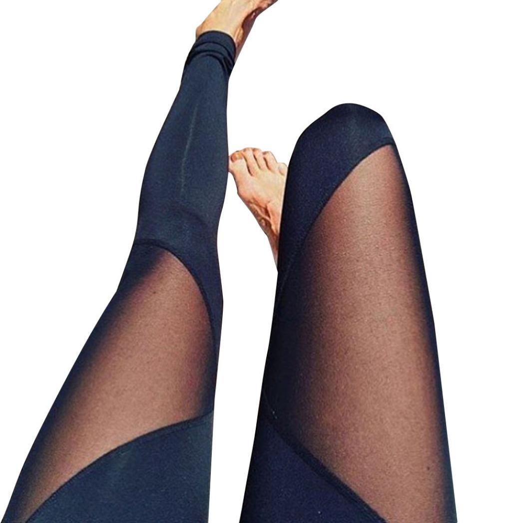 Pantaloni yoga, Luoluoluo Women ' s Power Flex yoga pantaloni pancia controllo allenamento yoga Capris pantaloni leggings