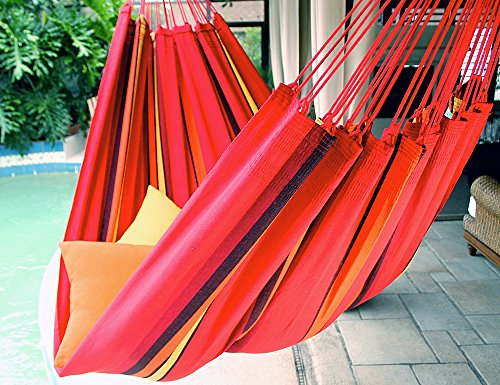 (Sweet Cherry - Fine Cotton King Size Hammock, Made in Brazil)