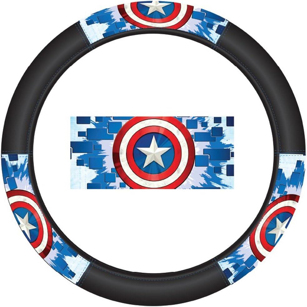CAPTAIN AMERICA USA MARVEL SHEILD RED WHITE BLUE Black License Plate Frame NEW