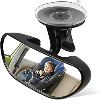 Car Safety Easy View Back Seat Suction Mirror Baby Care Rear Adjustable