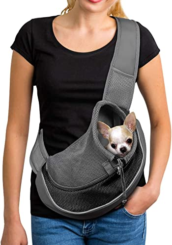 YUDODO-Pet-Dog-Sling-Carrier-Breathable-Mesh-Travel-Safe-Sling-Bag-Carrier-for-Dogs-Cats