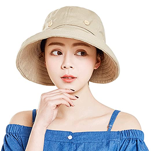 31a47c56448 YEKEYI Summer Sun Hats Outdoor UV Protection Wide Large Brim Beach Visor  Empty Top Caps for Women at Amazon Women s Clothing store