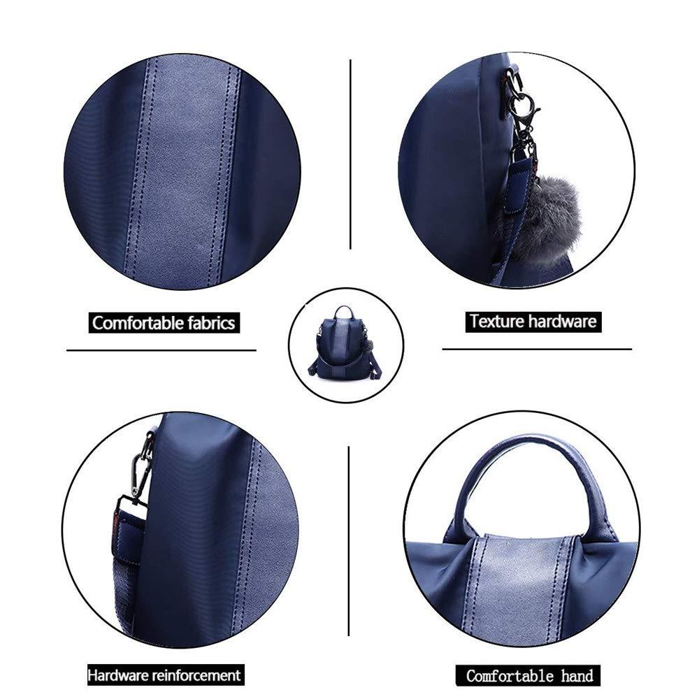 ZJDECR Ryggsäck kvinnor mode ryggsäck nylon vardaglig vattentät student resa tygväska blå svart ryggsäck ryggsäck (färg: svart) BLÅ