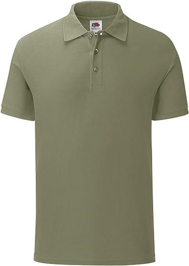 Fruit of the Loom Premium Cotton Pique Polo Shirt Mens Classic Polo Tee Tshirts