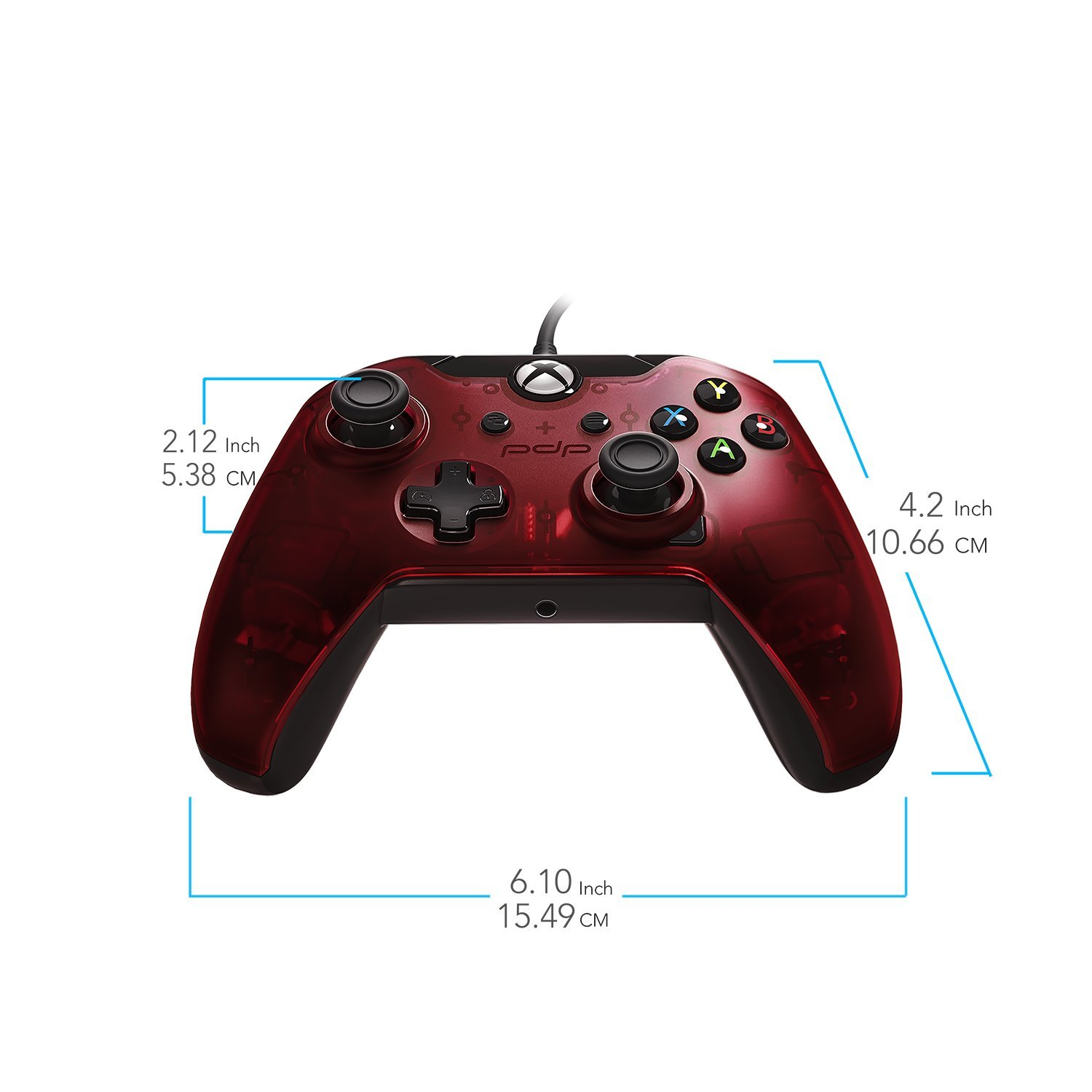 Amazon Com Pdp 048 082 Na Rd Wired Controller For Xbox One Xbox One X And Xbox One S Crimson Red Video Games