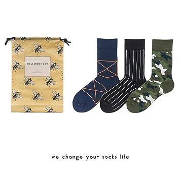 Elanpu Calcetines para Hombre y Mujer 3 Pares Calcetines de Pareja Middle Tube Personalidad Creativa: Amazon.es: Deportes y aire libre