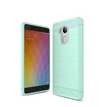 XiaoMi RedMi 4 Pro Funda - Carbon fiber Soft Silicone Case Carcasa Funda para XiaoMi RedMi 4 Pro - Verde