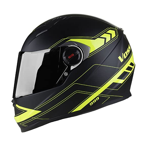 Amazon.com: Voss 999 Bandito Full Face Gloss Apex Helmet with Iridium Face Shield - XXL - Gloss Apex High Visibility: Automotive