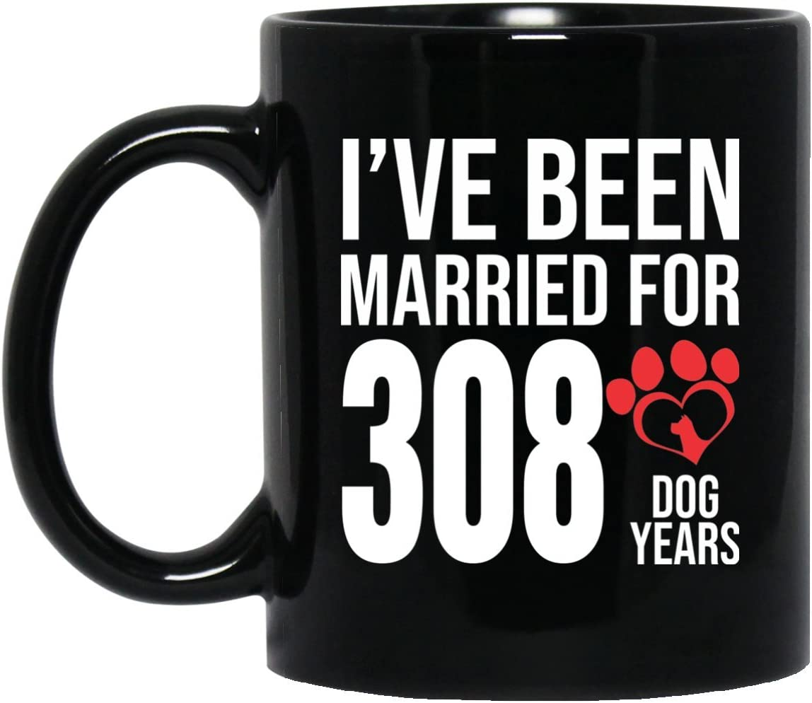 Amazon Com 44th Wedding Anniversary Gifts For Dog Lover Funny Couple Mugs Women Wife Husband Her Him 44 Years Wedding Marriage Gift Kitchen Dining