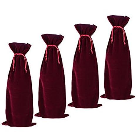 goodxy1 - Bolsas para Botellas de Vino de Terciopelo Rojo ...