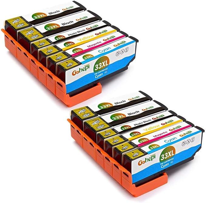 Gohepi 33 XL Alta Capacidad Cartuchos de tinta Compatible para ...