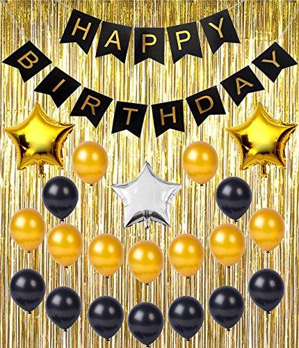 birthday-party-supplies-decoration-kit-happy-birthday-banner-metallic-gold-foil-fringe-shiny-curtain