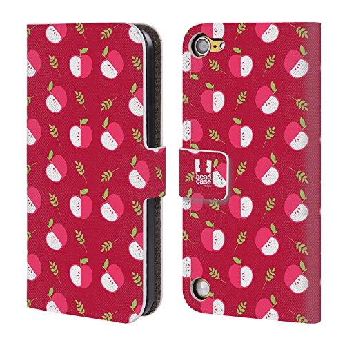 Head Case Designs Mele Pattern Fruttosi Cover a portafoglio in pelle per iPod Touch 5th Gen / 6th Gen