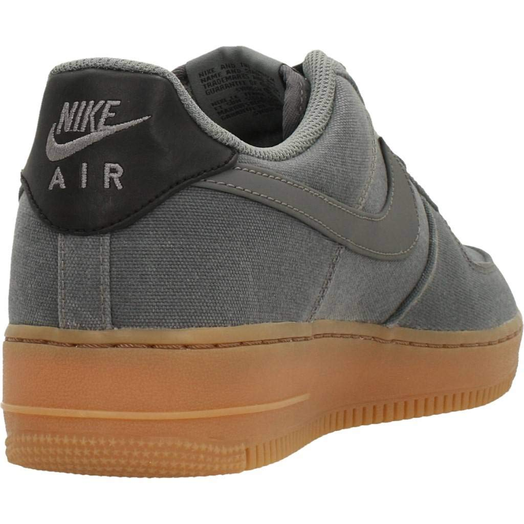 save off c0d6e ea7c2 Nike Men s AIR Force 1  07 LV8 Style Fitness Shoes, Multicolour Flat Pewter  Gum Med Brown 001, 6 UK  Amazon.co.uk  Shoes   Bags