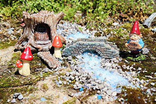 MayRich Set of 6 Fairy Garden Accessories (Tree Stump)