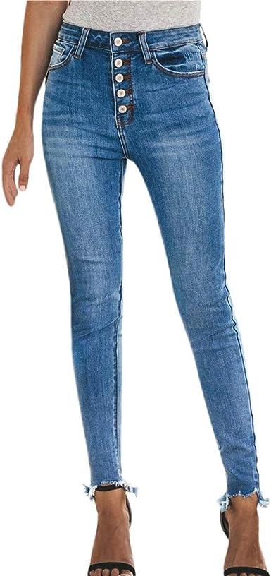 Pantalons Skinny Bleu Femme,Overdose Soldes