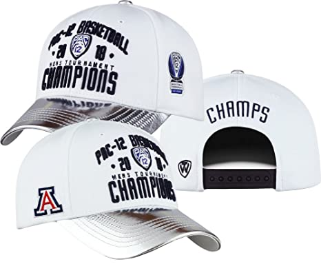 newest 1088f c6afd Elite Fan Shop Arizona Wildcats PAC 12 Champs Hat Basketball 2018 - White