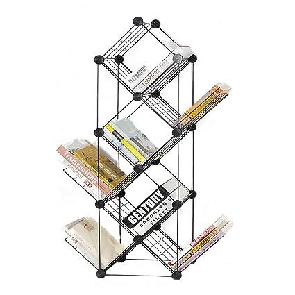 Bookcases 7-layer combination of adjustable creative European minimalist bookshelf landing small space magazine rack