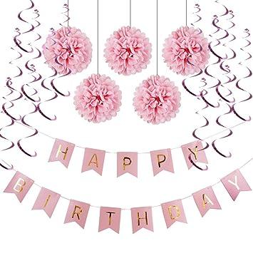 Sunbeauty Happy Birthday Girlande Set Geburtstag Dekoration