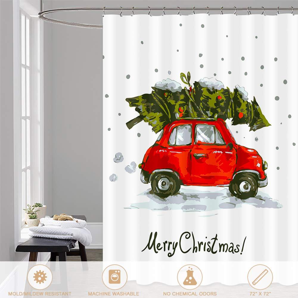 htovila Duschvorhang 180 x 180 cm Merry Christmas Polyester ...
