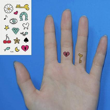 Oottati 2 Hojas Pequeño Lindo Tatuaje Temporal Tattoo Diamante ...