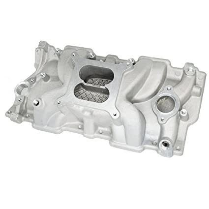 Aluminum Intake Manifold High Rise Dual Plane for Small Block Chevy SBC 350  383