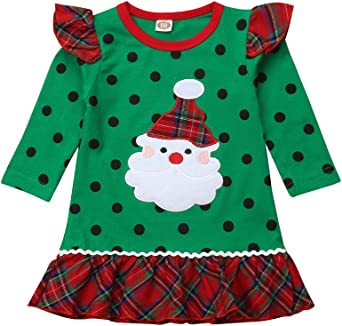 12-18 Months, Green Gotd Toddler Kids Baby Girl Floral Princess Dress Christmas Clothes Winter Autumn Outfits Gifts