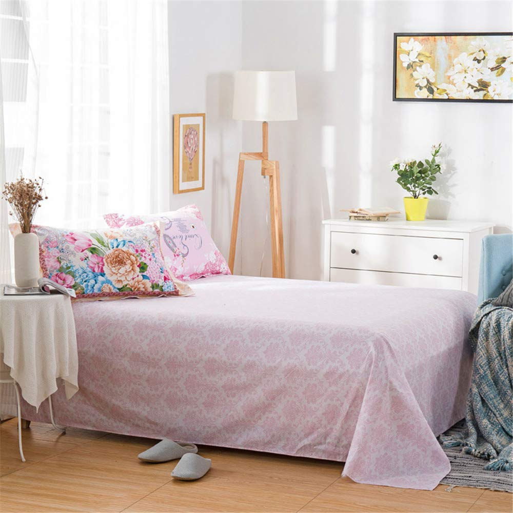 Bedding Cotton Twill Printed Single Double Cotton Sheets Right Angle Rounded Corner Design European and American Popular Style Skin Softening Sweat Breathable Flower Language 160230cm by iangbaoyo
