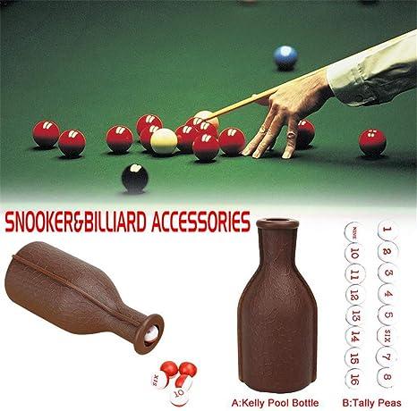 Esoes Billiard - Botella de plástico para Billar con 16 Bolas de ...