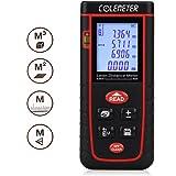 COLEMETER® Télémètre Numérique Laser Mesure / mesureur / calcul Mètre Distance Zone Surface Volume 0.2-40m