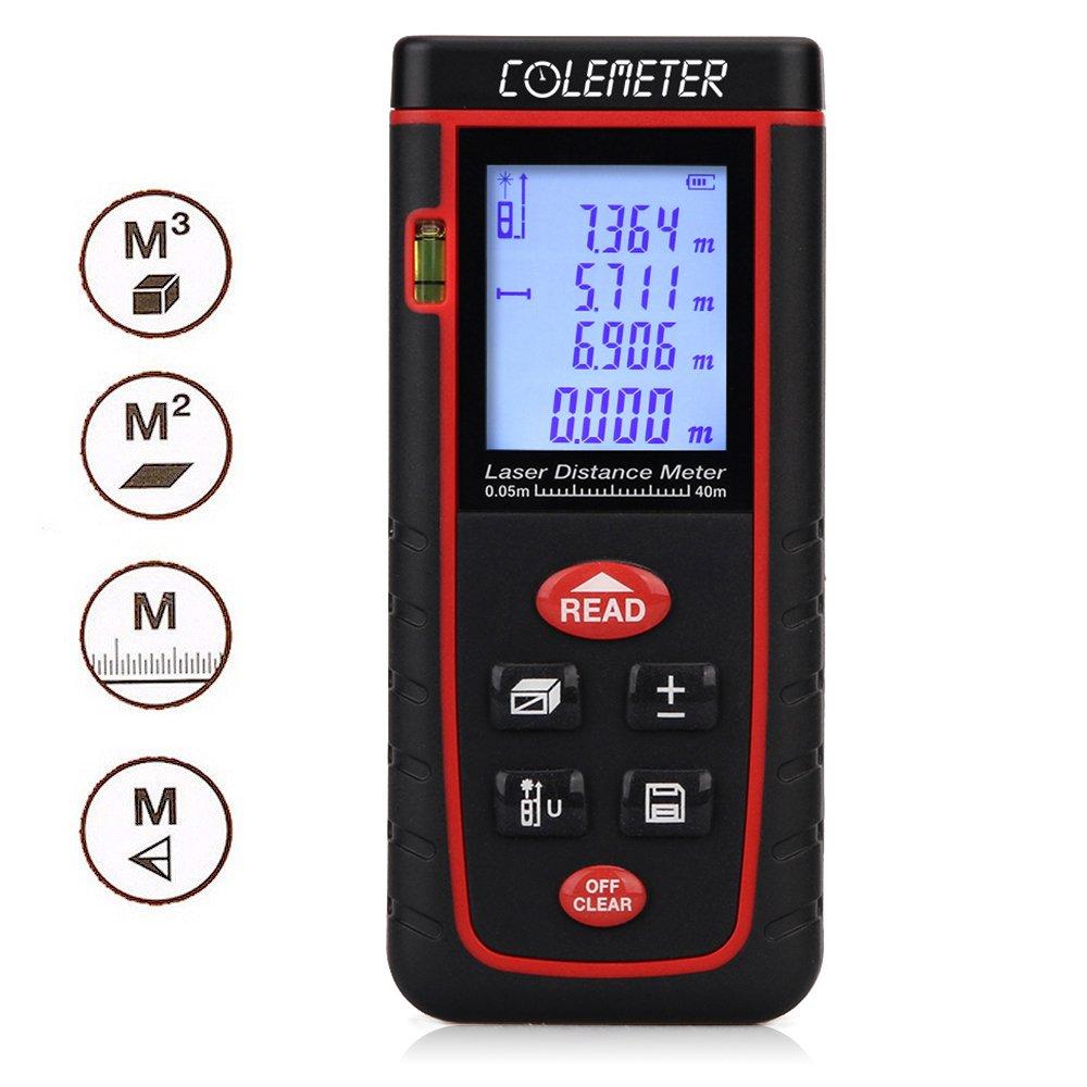 COLEMETER® Télémètre Numérique Laser Mesure / mesureur / calcul Mètre Distance Zone Surface Volume 0.2-40m COLEMETER®