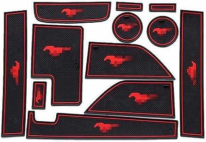 12PCS Inner Door Gate Non-slip Pad Mat For Ford Mustang 2015-2019