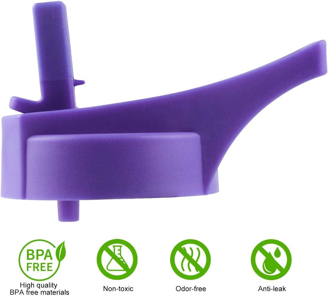Pulchra Strohdeckel passend f/ür Wasserflaschen mit breiter /Öffnung kompatibel mit 12 16 18 20 32 40 64 oz Sport-Wasserflasche mit breiter /Öffnung