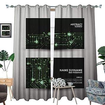 Amazon Com Longbuyer Grommet Curtain Panelabstract Hi Tech Business