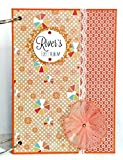 Kristabella Creations A4 Ring Binder Baby Girl Scrapbook Album, Baby Album, Personalized Baby Memory Book, Newborn Baby Photo Album, size A4