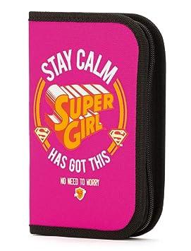 Estuche escolar Superhéroe, 15 x 20 cm, color SuperGirl ...