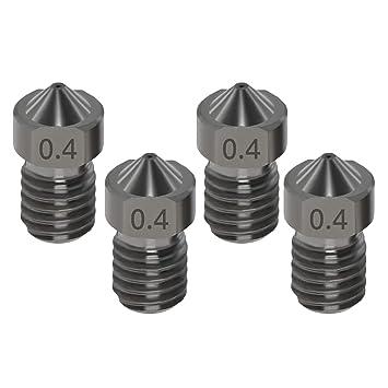 TOOGOO Impresora 3D Accesorios V6 Boquilla de Acero Abrasivo 1.75 ...