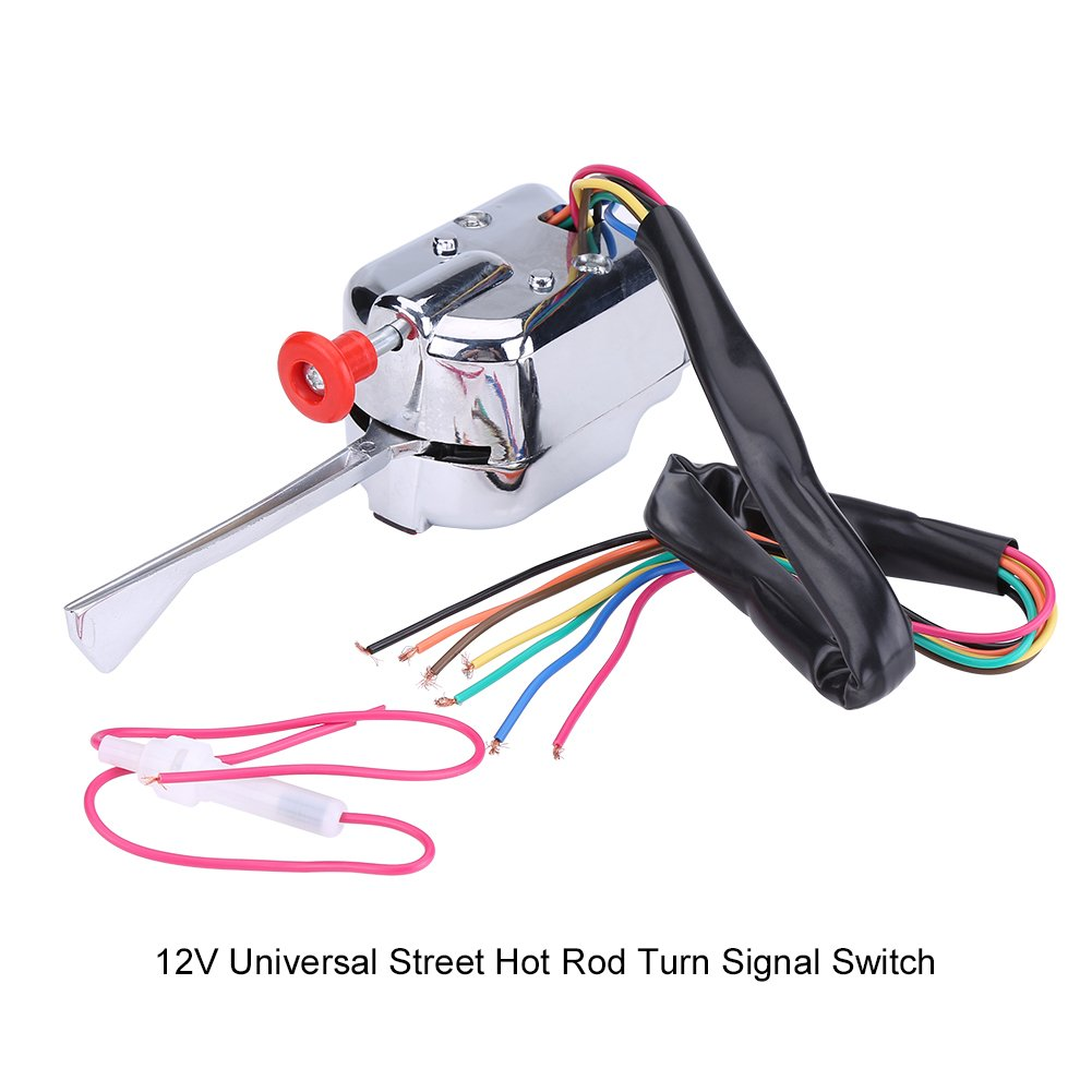 12V Universal Street Hot Rod Chrome Turn Signal Indicator Switch for Car Truck Street Rod Dune Buggy Sand Rail