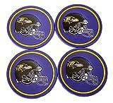 """NFL Licensed 4 Pack Flexible 4"""" Coaster Set (Baltimore Ravens)"""