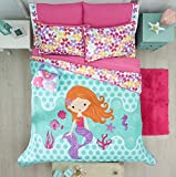 LIMITED EDITION LITTLE MERMAID KIDS GIRLS REVERSIBLE COMFORTER SET AND EMBROIDERED SHEET SET 8 PCS FULL SIZE