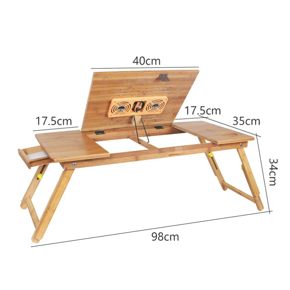 PENGFEI Table Portative Supports D'ordinateurs Portables Bois Massif Multifonction Pliant Hauteur Réglable Apprendre