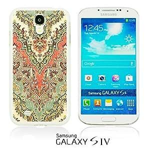 OnlineBestDigital - Flower Pattern Hardback Case for Samsung Galaxy S4 IV I9500 / I9505 - Retro Floral Pattern