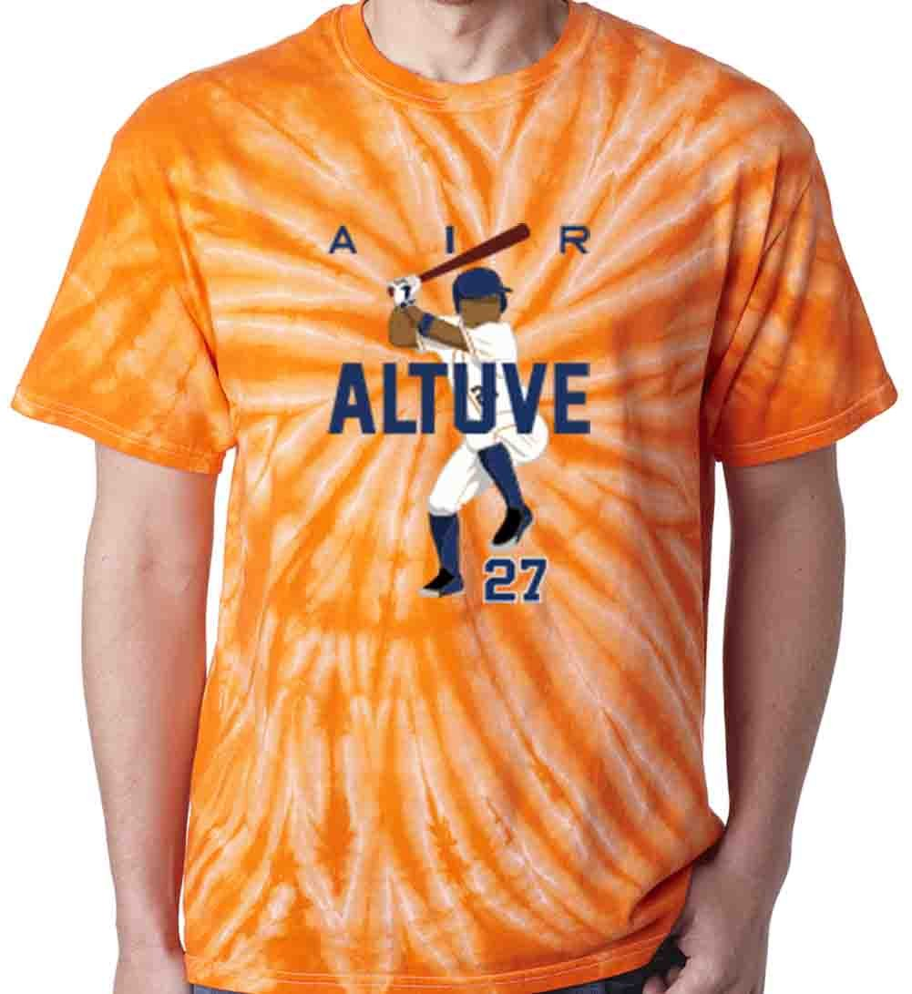 The Silo TIE DIE ORANGE Jose Altuve Houston AIR HR T-Shirt aTSilo0920