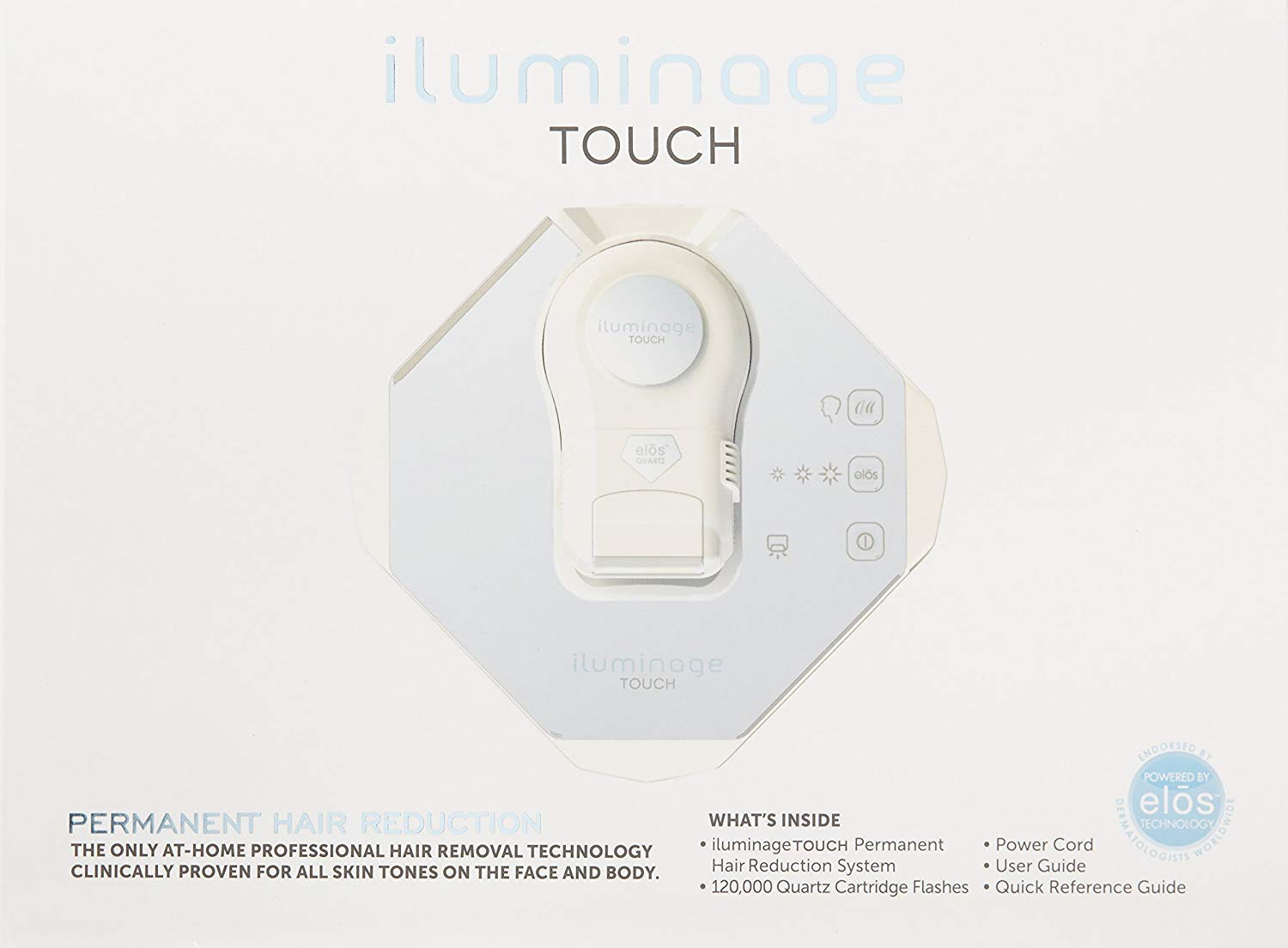 iluminage. Touch At Home Permanent Hair Reduction Device (FDA-Cleared IPL & RF - All Skin Colors)