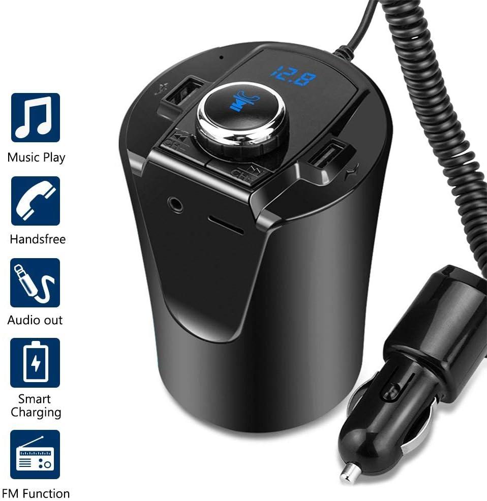 MeterMall Mejor para Smart para BX6 Transmisor Bluetooth USB Cargador Adaptador Coche Wireless Convertidor Reproductor de m¨²sica Manos Libres Llamada Soporte TF Tarjeta: Amazon.es: Electrónica