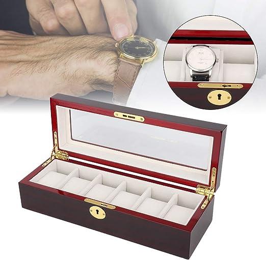 Caja de Almacenamiento de Madera Vintage, 6 Ranuras Pendientes ...