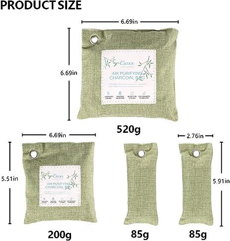 Bolsas purificadoras de aire de carbón de bambú, 8 unidades ...